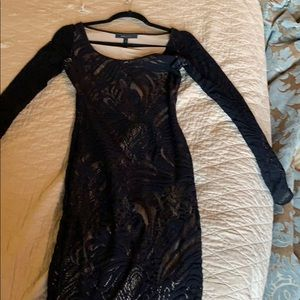 BCBG Max Azeris XS Black and Nude cocktail dress